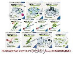 RAVENSBURGER GraviTrax STARTERSET + 10 ERWEITERUNGEN KUGELBAHNSYSTEM