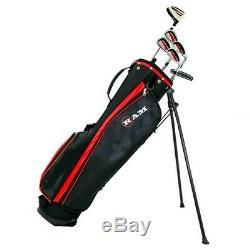 Ram Golf SGS Mens Left Hand Golf Clubs Starter Set with Stand Bag Steel Shafts