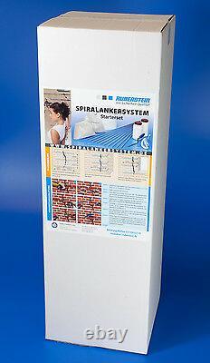 Ruberstein Spiralanker Starterset 6,8,10 mm für die Risssanierung im Mauerwerk