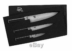 Shun Classic 3 piece Starter Knife Set, 8 Chef, 6 Utility, 3.5 Paring, #2 SE