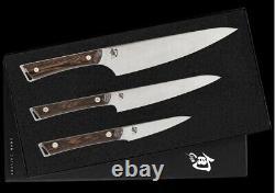 Shun Kanso 3.5 Paring 6 Utility & 8 Chef's Knife 3 PC Starter Set SWTS0351