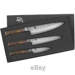Shun Premier 3 piece Starter Knife Set 8 Chef, 6.5 Utility, 4 Paring TDMS0300