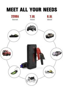 TOPVISION 2200A Car Jump Starter Booster & Power Bank BRAND NEW & SEALED