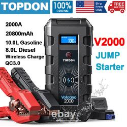 V1200/V1500/V2000 Car Jump Starter Power Bank Emergency Battery Booster Charger