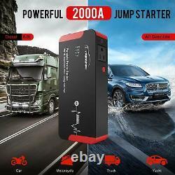 YABER 2000A Peak 22000mAh Car Jump Starter Portable Jump All Gasoline/Diesel