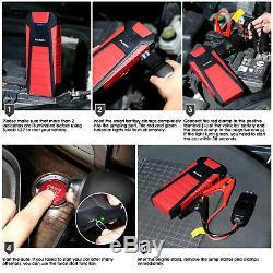 2500a / 25000mah Portable Car Engine Starter Jump Smart Battery Booster Power Bank