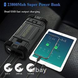 3000a Pomme De Démarrage De Démarrage De Voiture De Démarrage Jumper Power Bank Chargeur De Batterie Usb C