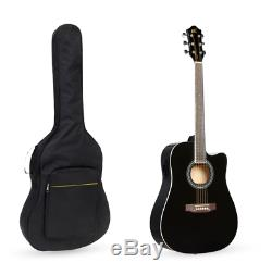 41dans Full Size Acoustic Electric Guitar Cutaway Starter Set Kit Débutant Musical