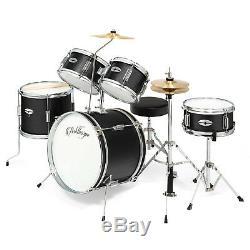 5 Pièces Junior Drum Set Avec Laiton Cymbales Enfants Kid Starter Kit