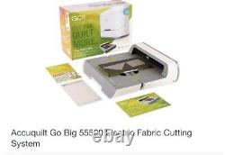 Accuquilt Go Big Electric Fabric Cutter & Starter Set