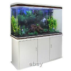 Aquarium Starter Komplettset Passend Unterschrank 143.5cm X 120.5cm X 39cm Weiß