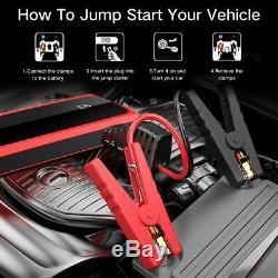 Audew 1500a Pic 20000mah Car Jump Starter (démarrer Tout Moteur À Gaz Ou Jusqu'à 8.5l)