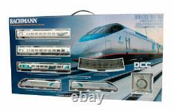 Bachmann #01205 Échelle Ho Amtrak Acela Train De Voyageurs Set Nouveau Dans La Boîte DCC