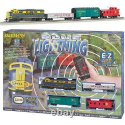 Bachmann 01501 Blue Lightning Electric Train Set Avec E-z App Bluetooth Ho Scale