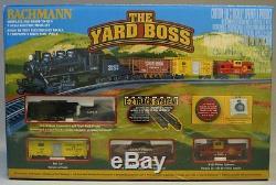 Bachmann N Échelle Yard Boss At & Sf Moteur Steam Jauge Fret Train Set 24014 Nouveau