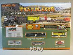 Bachmann N Scale Trailblazer Set Train Vapeur Moteur Tendre Mesure De Fret 24024
