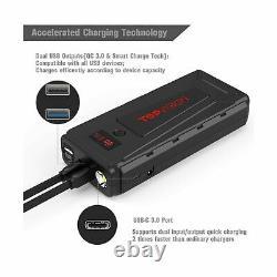 Batterie De Démarrage Pour La Voiture, Topvision 2200a Crête 21800mah Portable Voiture Électrique Pac