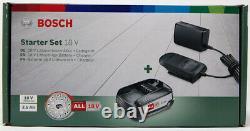Bosch Akku Starter-set (1x 2,5 Ah Akku, Système De 18 Volts, Ladegerät)
