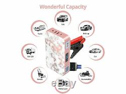 Car Jump Starter 700a Chargeur Usb De Pointe 12000mah Portable Battery Booster Clamp