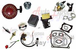 Carburateur Recoil De Démarrage Bobine D'allumage Joint Set Honda Gx160 5.5hp Moteur