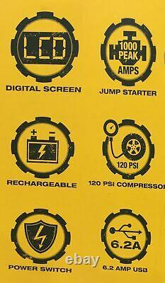 Cat 1000 Peak Amp Car Professional Portable Jump Starter Batterie Charger Compres