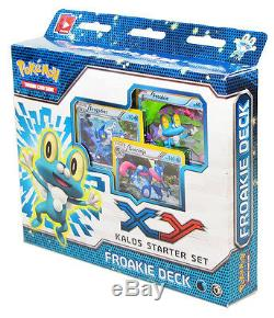 Chespin Froakie Fennekin Kalos Xy Pokemon Thème 210 Carte Plate-forme 3 Starter Set