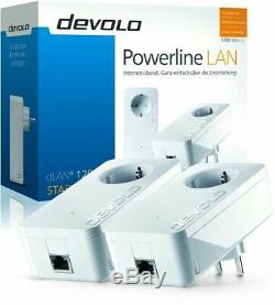 Devolo 9376 Dlan 1200+ Trousse Powerline Set 2 Stück & Steckdose 1200mbps