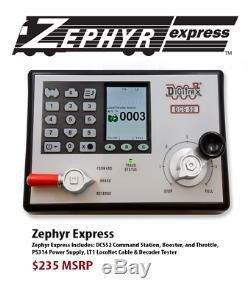 Digitrax 2020 DCC Dcs52 Zephyr Express Starter Set USA Édition Withpower Supply