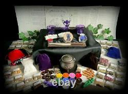 Énorme Sorcières Starter & Altar Set Kit D'herbes Wicca Pagan Wand Chalice Chaudron
