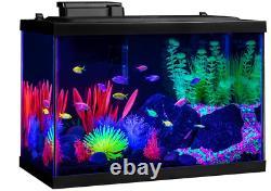 Fish Tank Aquarium Starter Kit Set 20 Gallon Glofish Led Pet Betta Eau Douce