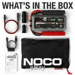 Genius Véritable Noco Gb70 Boost Hd 2000a Lithium Jump Starter Garantie 1 An