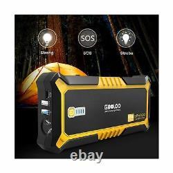 Gooloo Auto Car Jump Starter 12v Batterie Booster 4000a Peak Jaune Gp4000 Nouveau