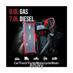 Gooloo Voiture Jump Starter 2000a Peak Usb Charge Rapide 3.0 12v Auto Batterie Booster