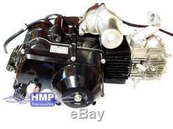 Hmparts Atv Quad Motor Set 125 CCM Vollautomatik / Rückwärtsgang E-démarreur Oben