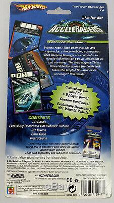 Hot Wheels Acceleracers Carte De Collection Du Jeu Starter Set Avec Green Synkro 2004