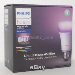 Jeu Original Philips Hue 3.0 Starter Kit A60 (hue Pont + 3 Lumière)