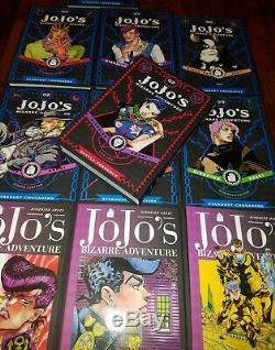 Jojo S Bizarre Adventure Démarreur À Couverture Rigide Manga Anglais Set Nouveau Anime Lot