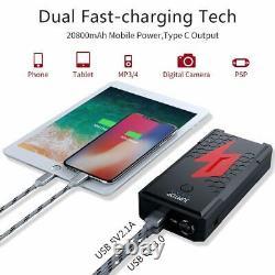 Jumtop 2500a Pic 20800m Portable Car Jump Starter Jump Pack Battery Boost