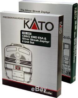 Kato 106-090 N Cb & Q Emd E5a & Silver Streak Zephyr 6 Set Unit