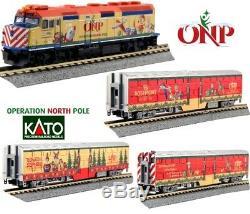 Kato 106-2015 N Echelle Opération Pôle Nord Noël Train 4 Set Unité