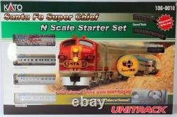 Kato 1060018 N Scale F7a Santa Fe Super Chief Set Withunitrack & Power 106-0018