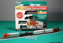 Kato 1066271 N Échelle F7 5 Unit Freight Train Starter Set At&sf 106-6271