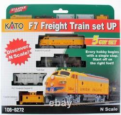 Kato 1066272 N Scale F7 5 Unit Freight Train Starter Mis En Place 106-6272