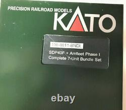 Kato 1068011bndl N Amtrak Amfleet Phase I 7 Unite Set Loco & 6 Cars 106-8011-bndl