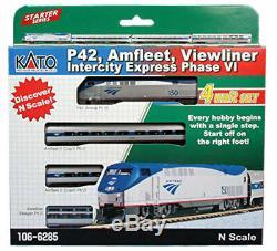 Kato N Echelle Amtrak Phase VI Viewliner Innercity Express Loco 3 Set Car 1066285