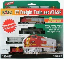 Kato N Echelle F7 Fret Train At & Sf Santa Fe # 106-6271