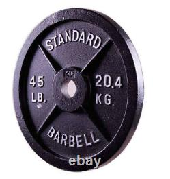 Marsbarbell Barbell 2 Pouces Olympique Weight Plate Starter Set
