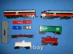 Marx #9620 Sears Allstate Freight Train Set Withnew Haven Ab Units. Fonctionne Bien