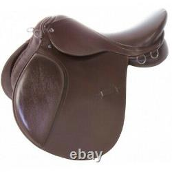 New All Purpose Brown English Saddle Starter Set Tack Brown 15 16 17 18