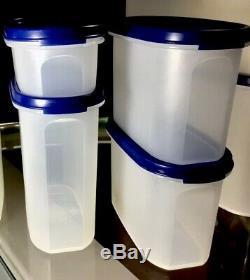 Nos Tupperware (16 Pc) Modulaire® Starter Set Bleu Seals Nouveau Collectables